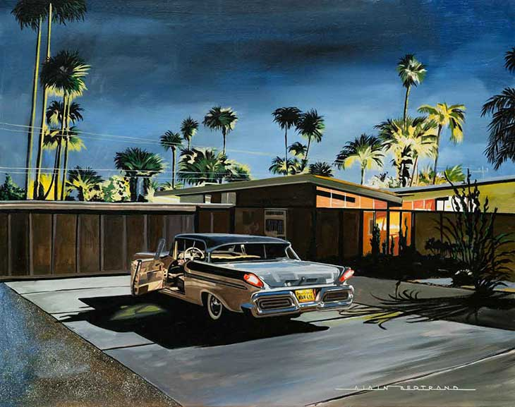 Alain Bertrand Palm spring at night image