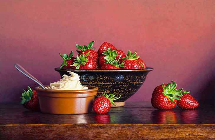 Brett Humphries Strawberries and Cream still life image