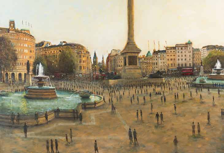 Clive McCartney Morning Sun The Mall Painting London contemporary art image