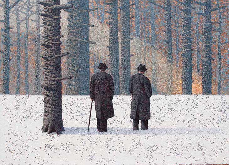 Mark Edwards Two Strangers painting image