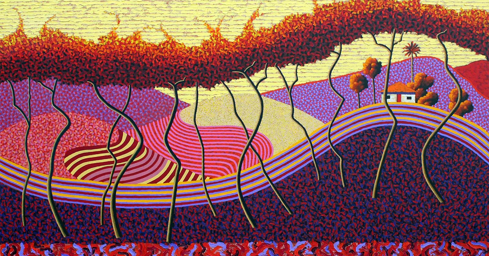 Poul Webb Vines Rosario Madeira oil on canvas image