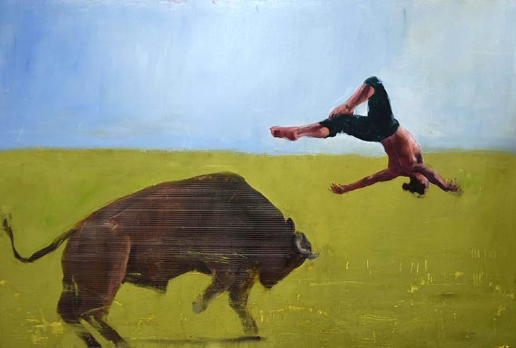 Richard Twose Bull Leaper Painting Contemporary Art-730px.jpg