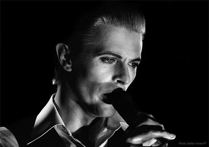 Catto Gallery Stefan Almers David Bowie White Duke 1976 Concert Photographs exhibition image