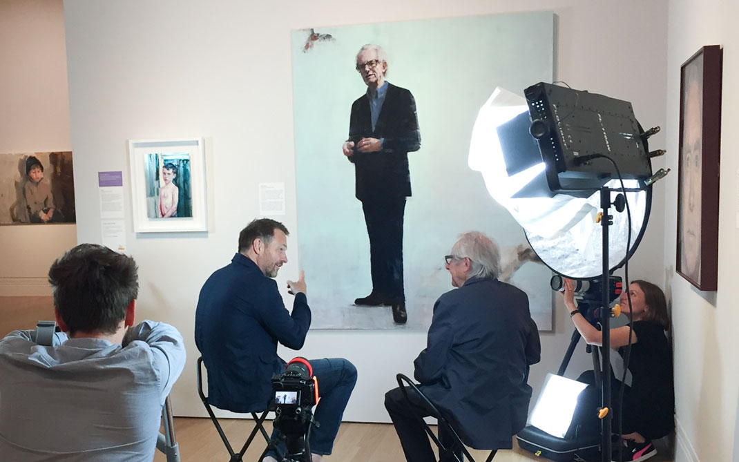 Richard Twose Ken Loach Portrait Painting interview image