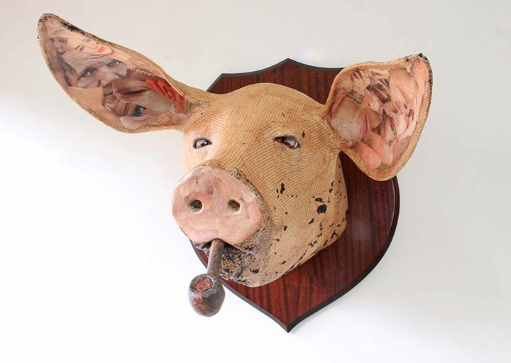 David Farrer smokey bacon sculpture image